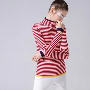 🛍 cotton striped turtleneck